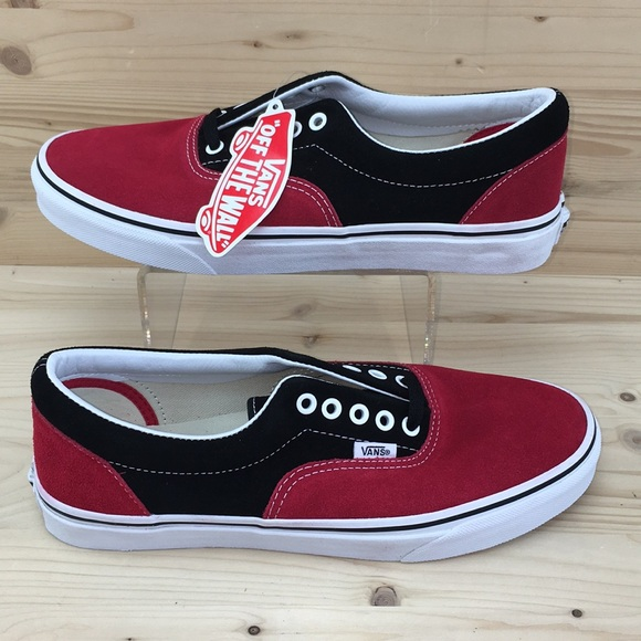 ec303af3f5 Vans Era 2-Tone Suede Black Red Mens Size 9.5 NIB
